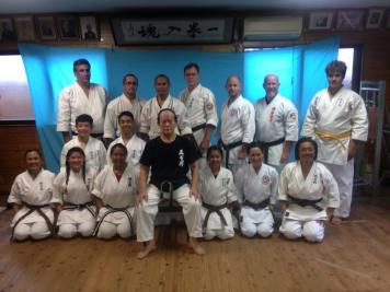 AKI dojo visit Takamiyagi